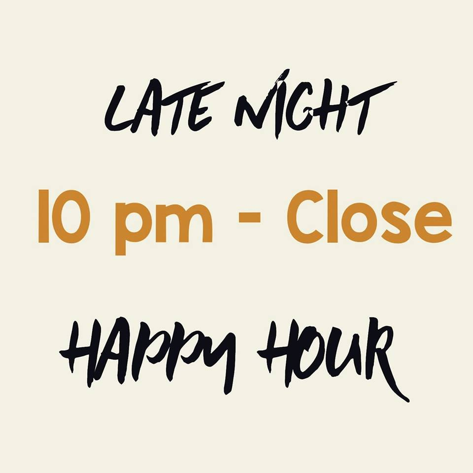 late night happy hour grape street